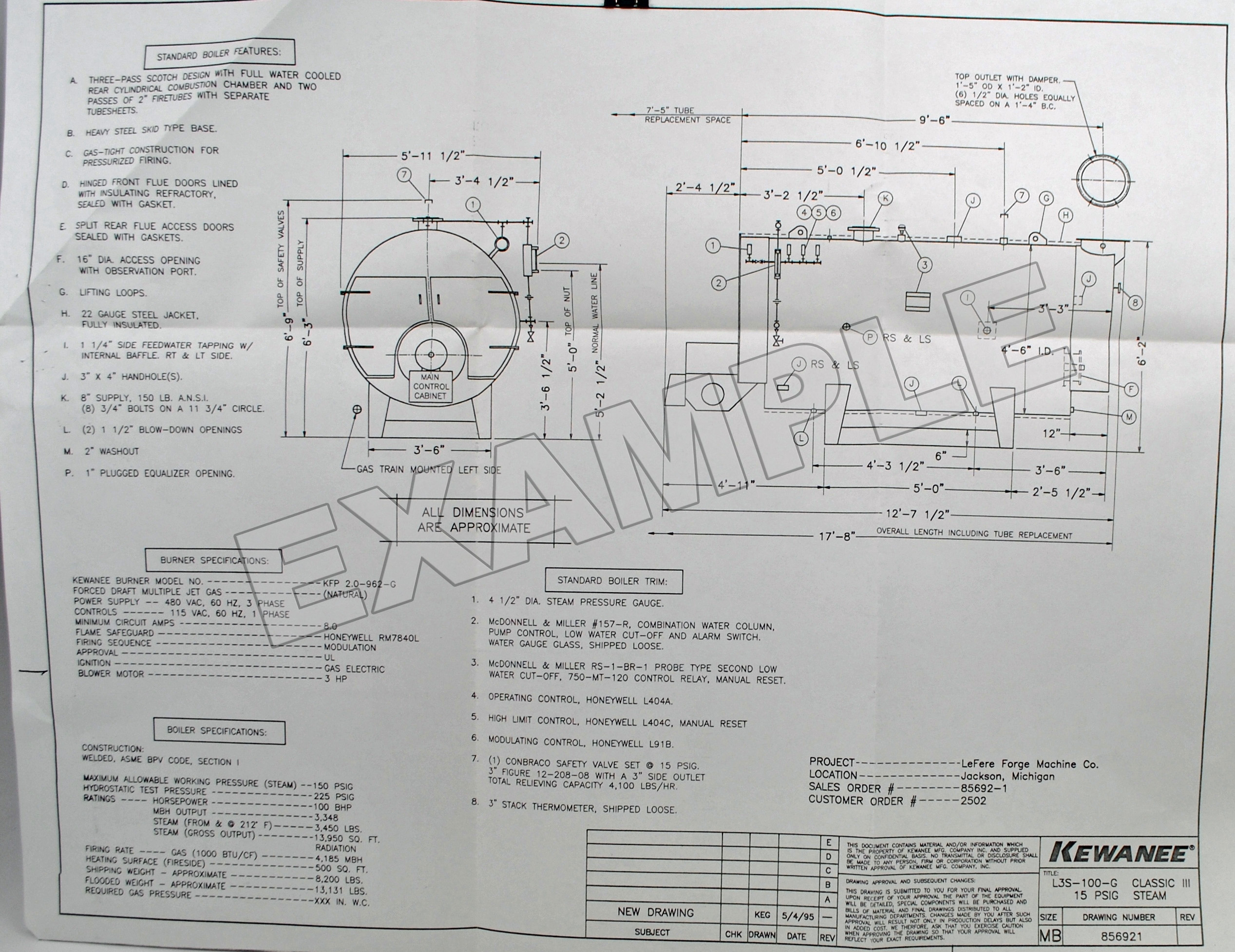 Kewanee job specific technical data click here for an example 7500 original factory wiring schematic publicscrutiny Images